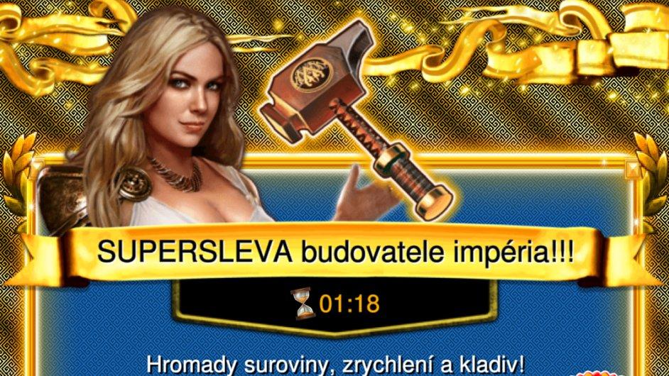 Nabídka virtuálního zlata ve hře Game of War