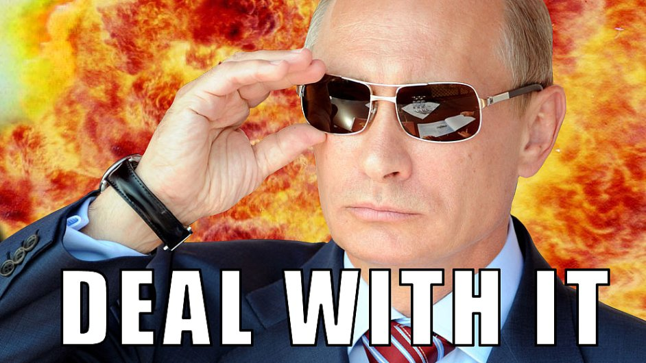 Obdobný obrázek prezidenta Putina v Rusku už nejspíš neprojde.