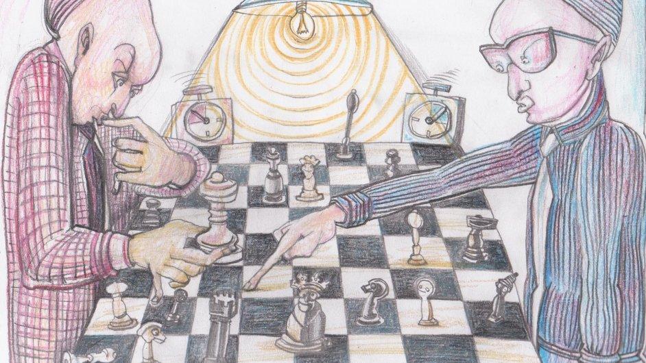 Obrázek Martina Velíška je obrazovým logem letošního ročníku ČEZ Chess Trophy.