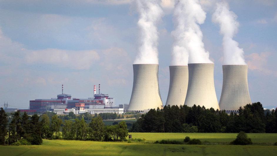 Jaderná elektrárna Temelín byla původně plánovaná se čtyřmi reaktory, zatím byly postaveny pouze dva.