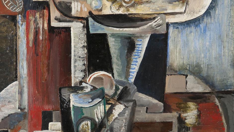 Nejdražším prodaným obrazem se letos stala malba Emila Filly nazvaná Pařížské zátiší.
