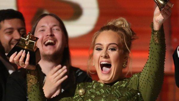 Zpěvačka Adele proměnila všech pět nominací na Grammy.