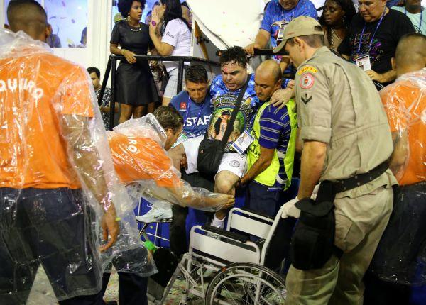 Nehoda na karnevalu v brazilském Riu di Janeiro.