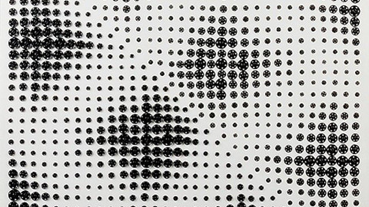 Běla Kolářová: Variace na dva trojúhelníky, vydraženo za 1,6 milionu korun bez aukční přirážky