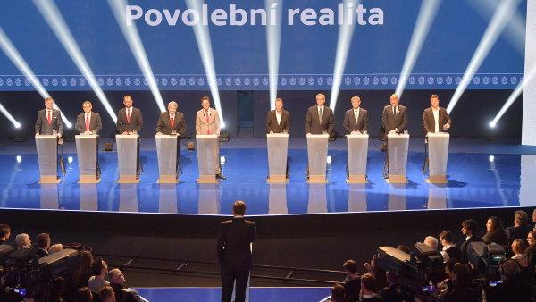 Superdebata v České televizi.