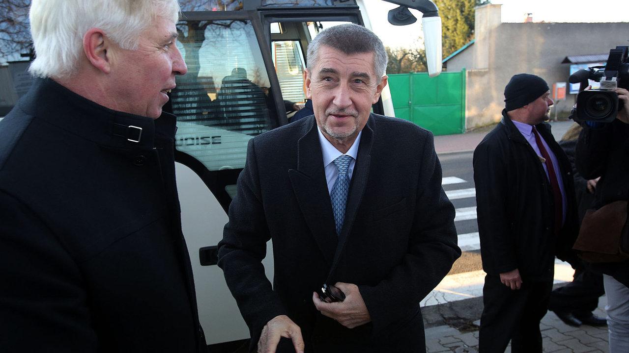 Andrej Babiš v Lánech.