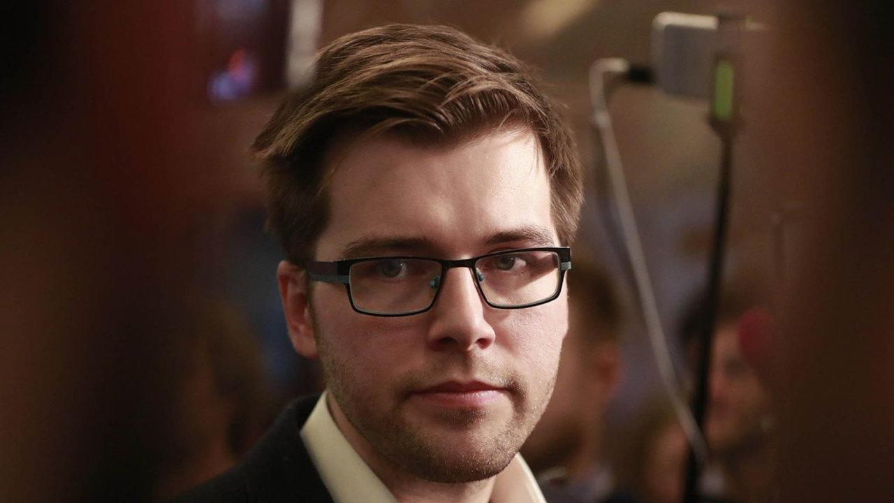 Poslanec Jakub Michálek.