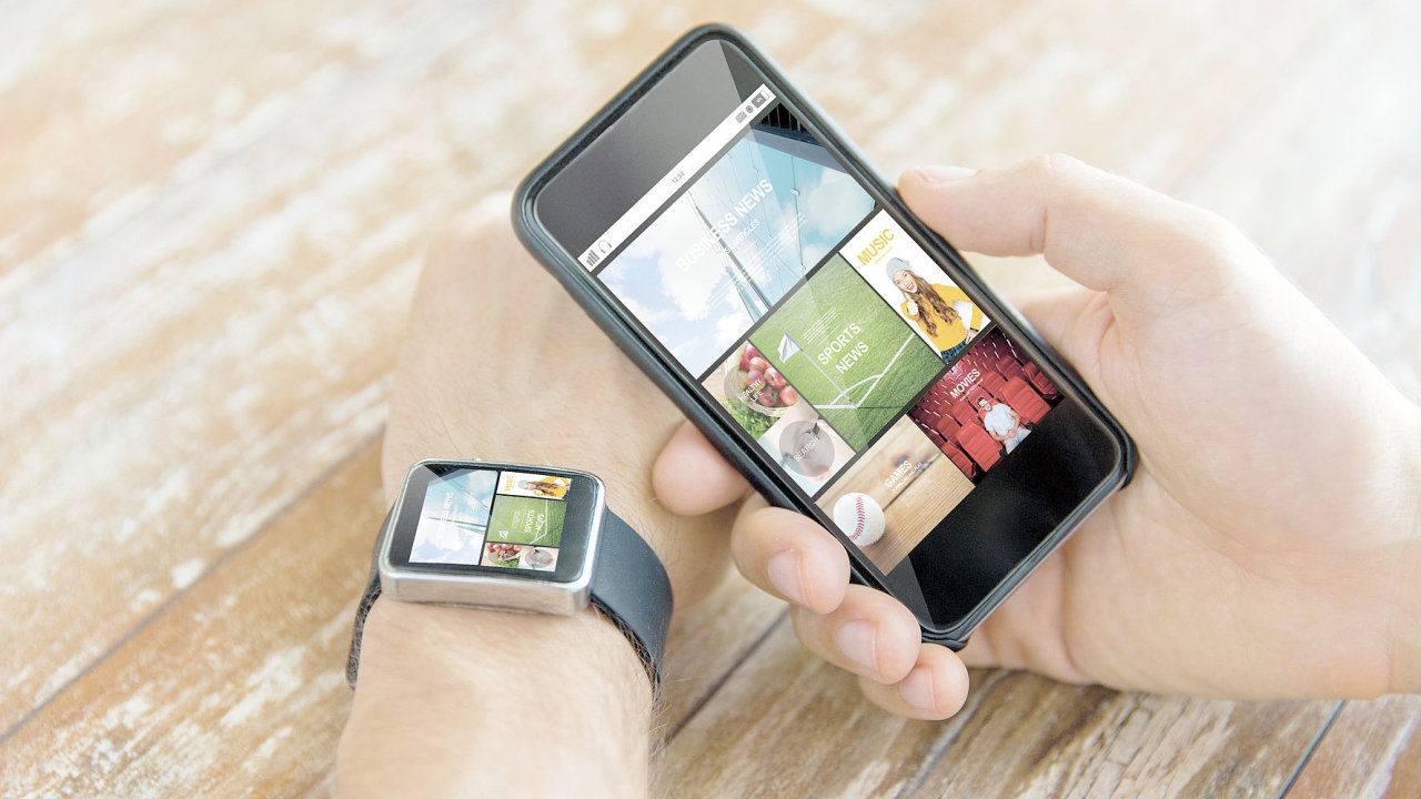 Nositelná elektronika, mobilní zařízení, chytré hodinky