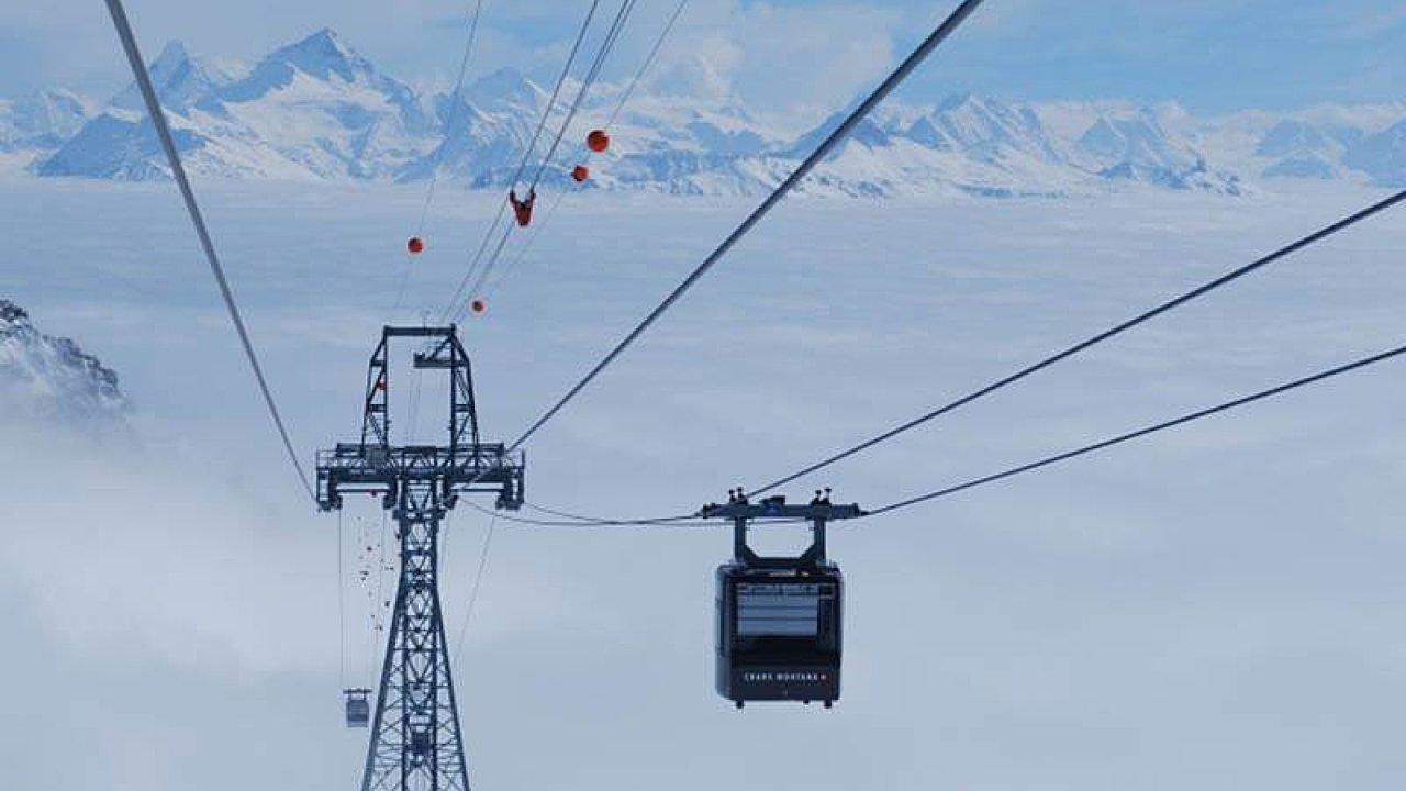 Lyžařský resort ve švýcarském městě Crans-Montana.