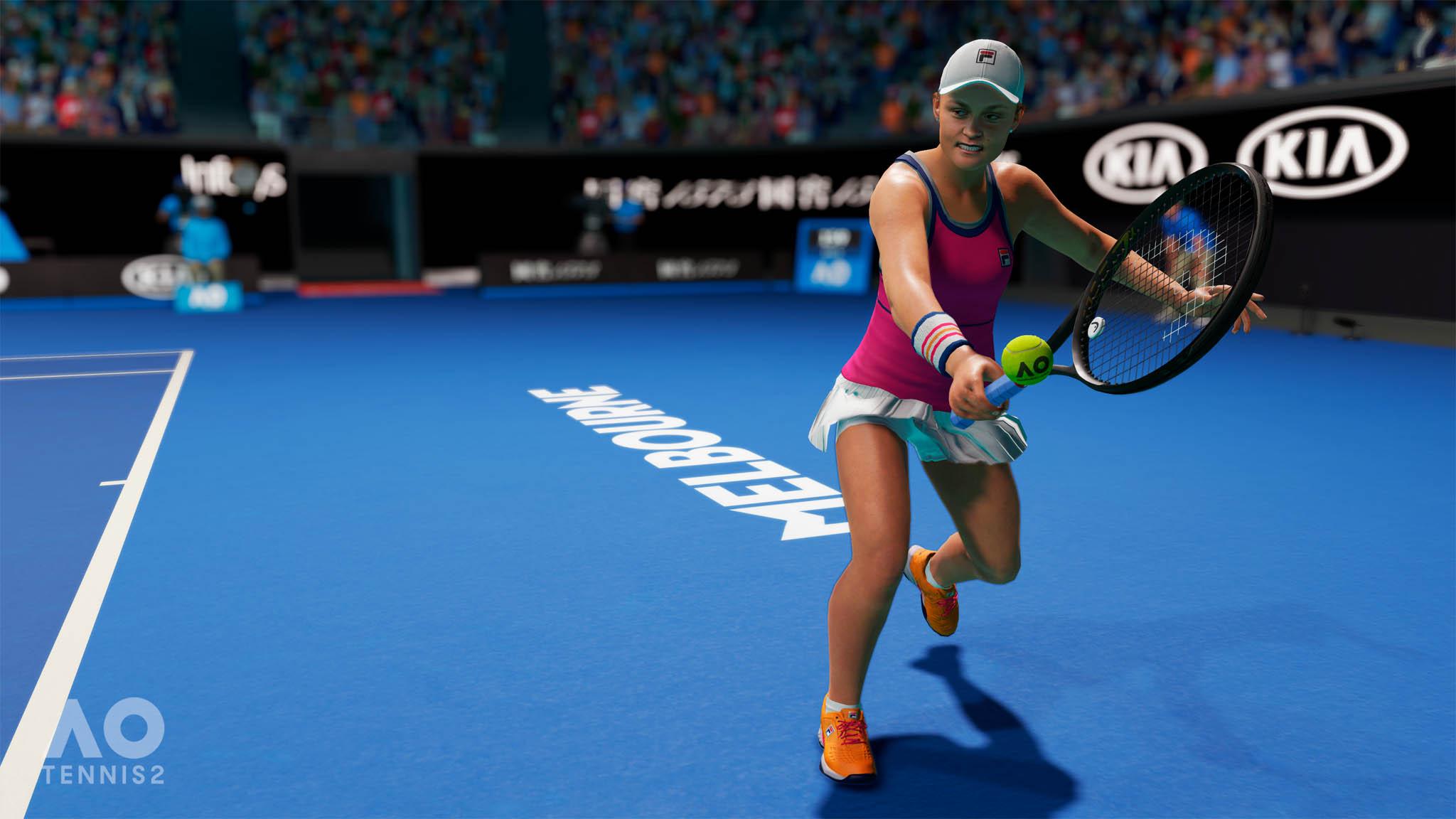 AO Tennis 2 přináší plnou licenci Australian Open a více než dvacet reálných hráček ahráčů včetně Karolíny Plíškové aMarkéty Vondroušové.