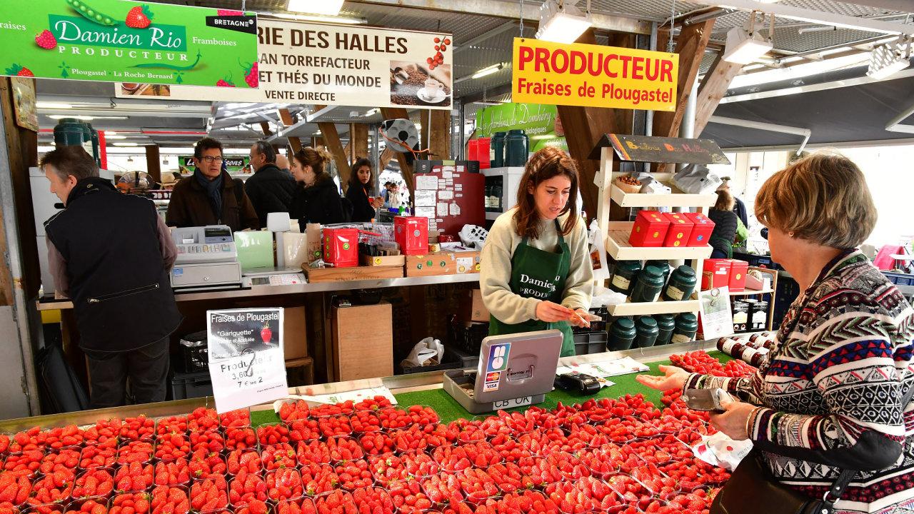 Francie zemědělství jahody