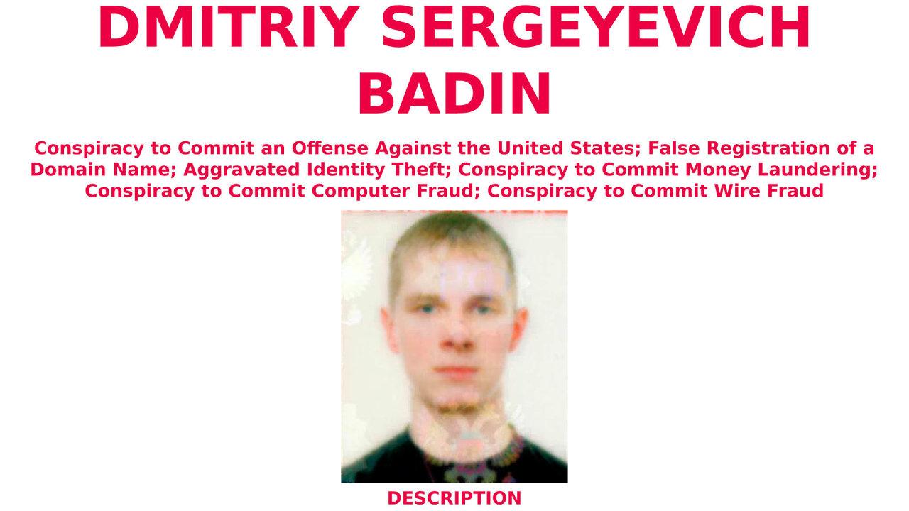 Dmitrij Badin, podezřelýzhackerského útoku naservery Bundestagu v roce 2015, byl již dříve obviněn americkou prokuraturou zútoku napočítače Demokratické strany vroce 2016. Pátrá po něm i FBI.