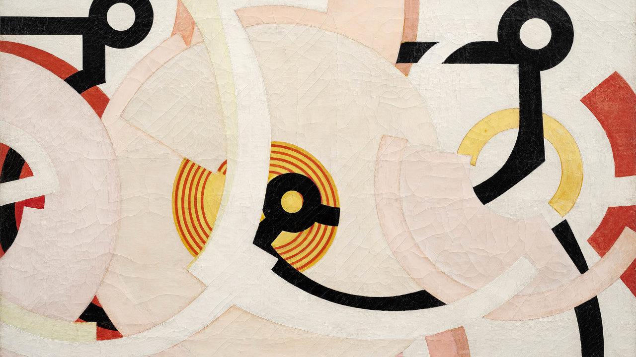 Nejvyšší vyvolávací cenu podzimních aukcí má Kupkův abstraktní obraz DivertimentoII z30. let. Dražba vGalerii Kodl začne na30milionech korun.