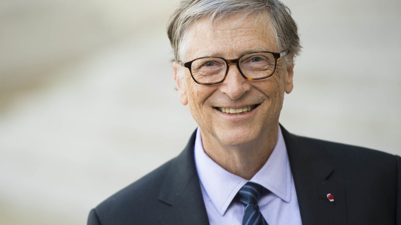 Bill Gates, spoluzakladatel firmy Microsoft, podnikatel a filantrop