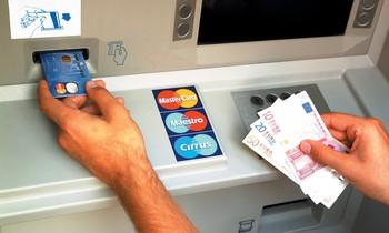 bankomat - výběr, eura, peníze