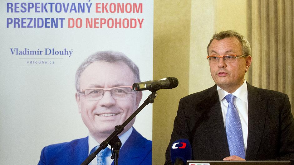 Vladimír Dlouhý při zahájení prezidentské kampaně