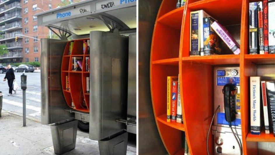 V New Yorku už se knihy půjčují i v telefonních budkách.