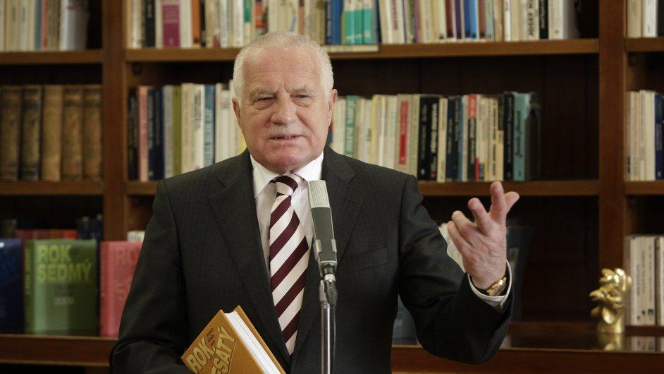 Ilustrační foto: Bývalý prezident Václav Klaus