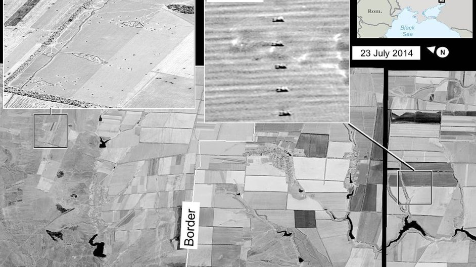 Satelitní snímky podle USA dokazují, že Rusko střílí raketami na východ Ukrajiny.