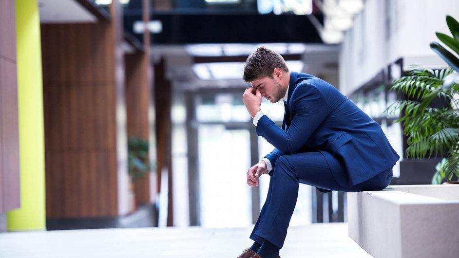 Stres v zaměstnání. Ilustrační foto
