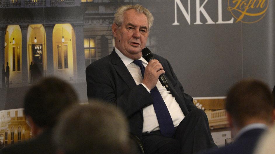 Prezident Miloš Zeman hovořil  20. dubna na Žofínském fóru.