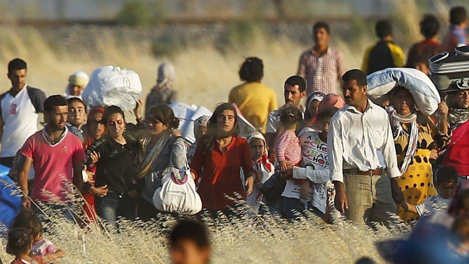 uprchlíci, imigranti, ilustrační foto