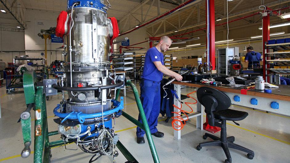 Montáž leteckého motoru