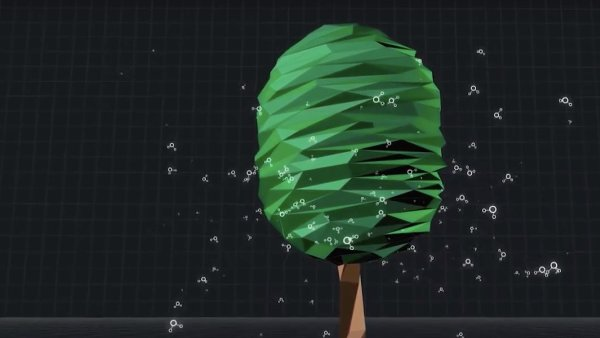 Následky globálního oteplování půjde možná zmírnit pomocí pryskyřicových listů, které pohlcují oxid uhličitý.
