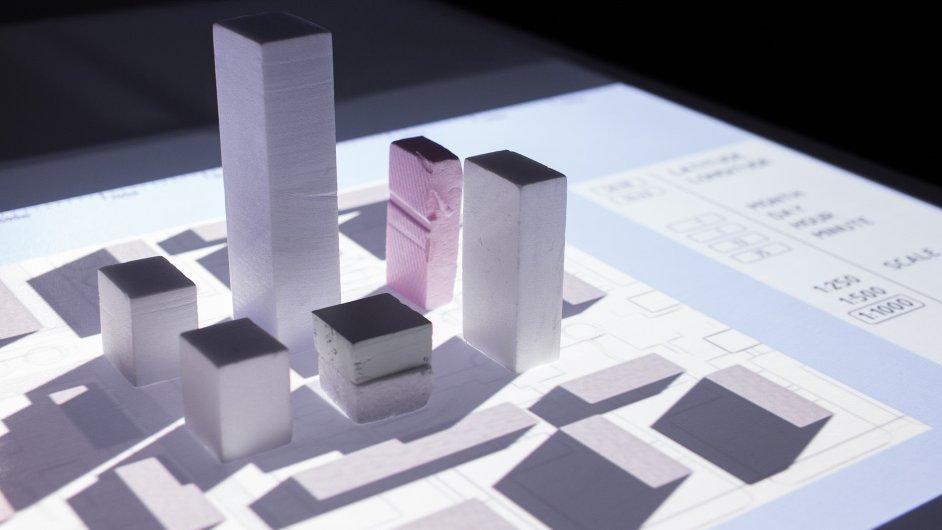 Interaktivní laboratoř urbanismu zobrazuje architektonické návrhy ve virtuální realitě.
