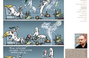 Komiks Luďka Bárty na téma
