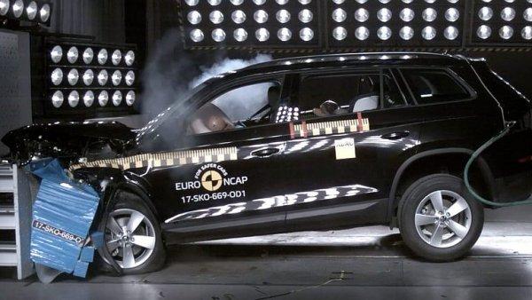 Škoda Kodiaq obstála v crashtestu. Dostala pět hvězd