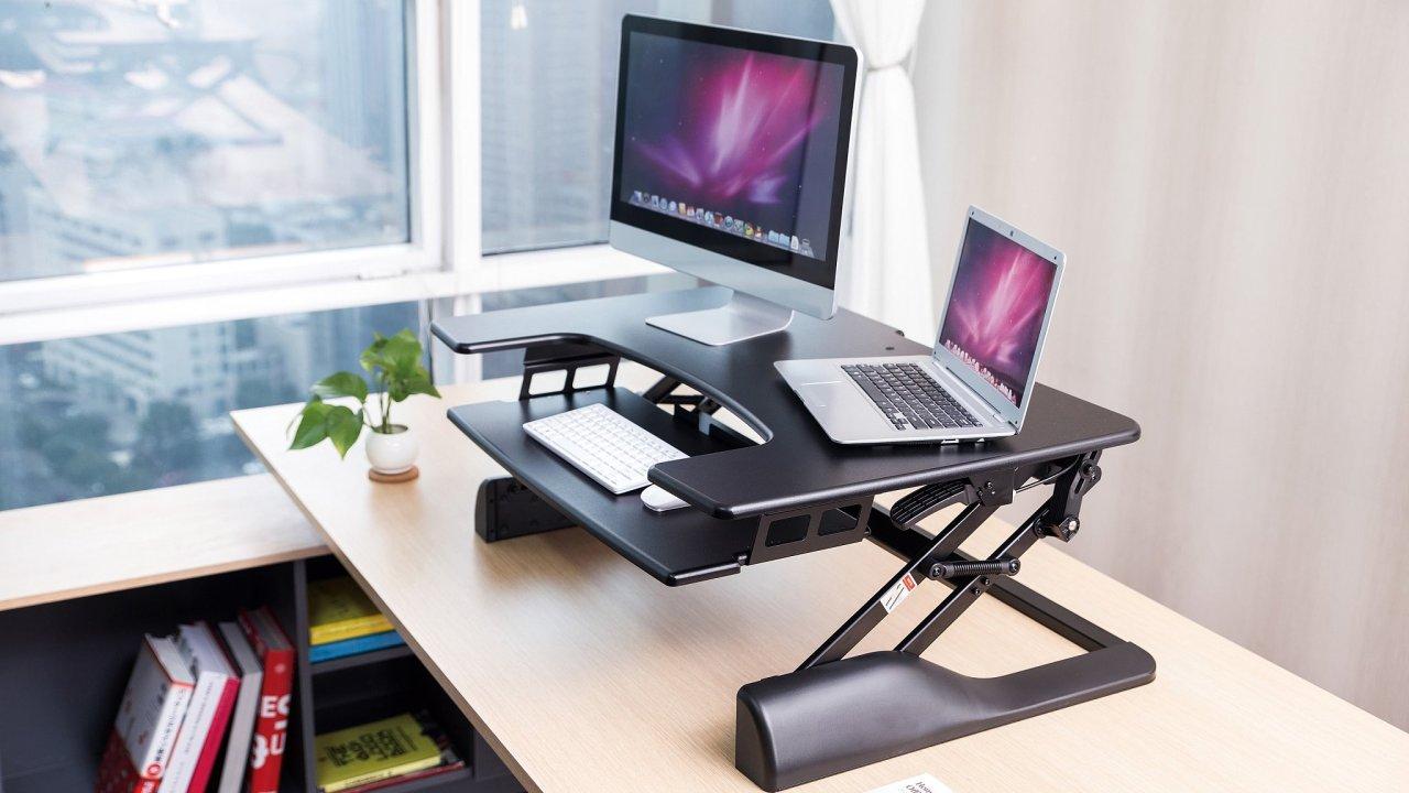 Ergonomické řešení do kanceláře - SIT-STAND pracovní stanice SOS 3130