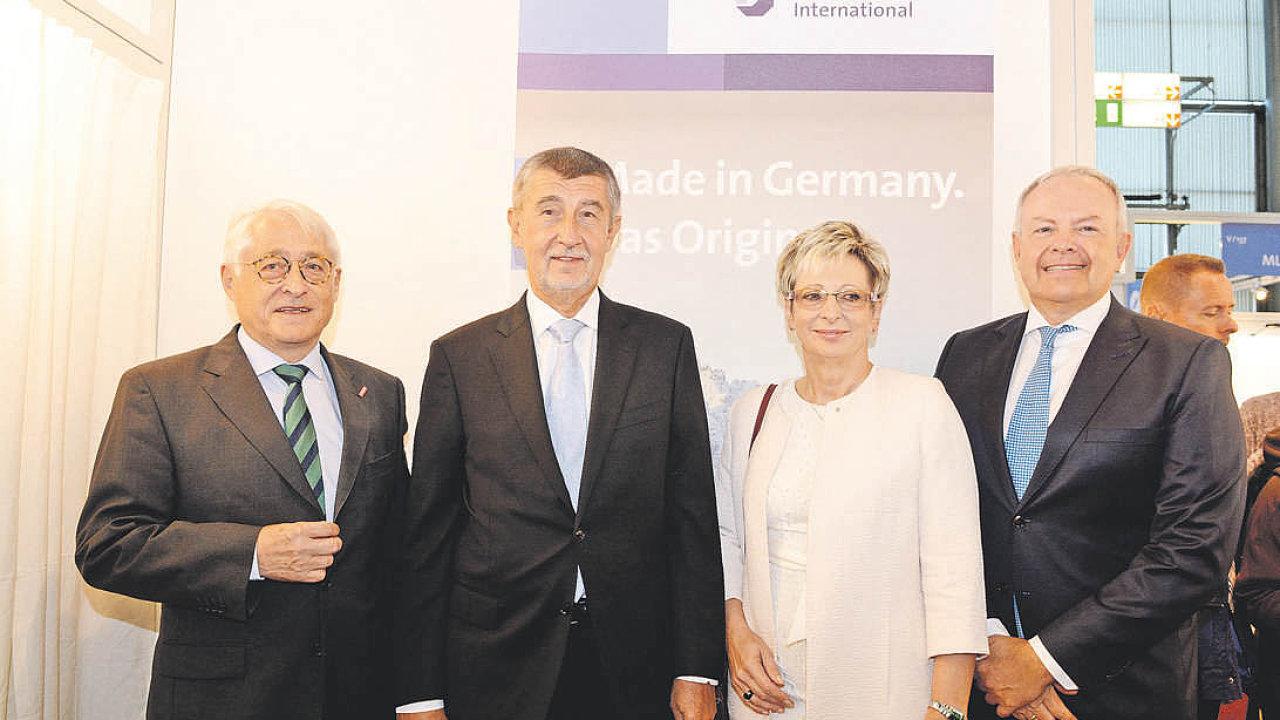 Na společný stánek Svobodného státu Bavorsko v pondělí zavítal ministerský předseda Andrej Babiš.
