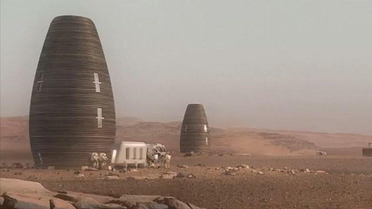 Takto by mohl vypadat dům pro astronauty na Marsu.