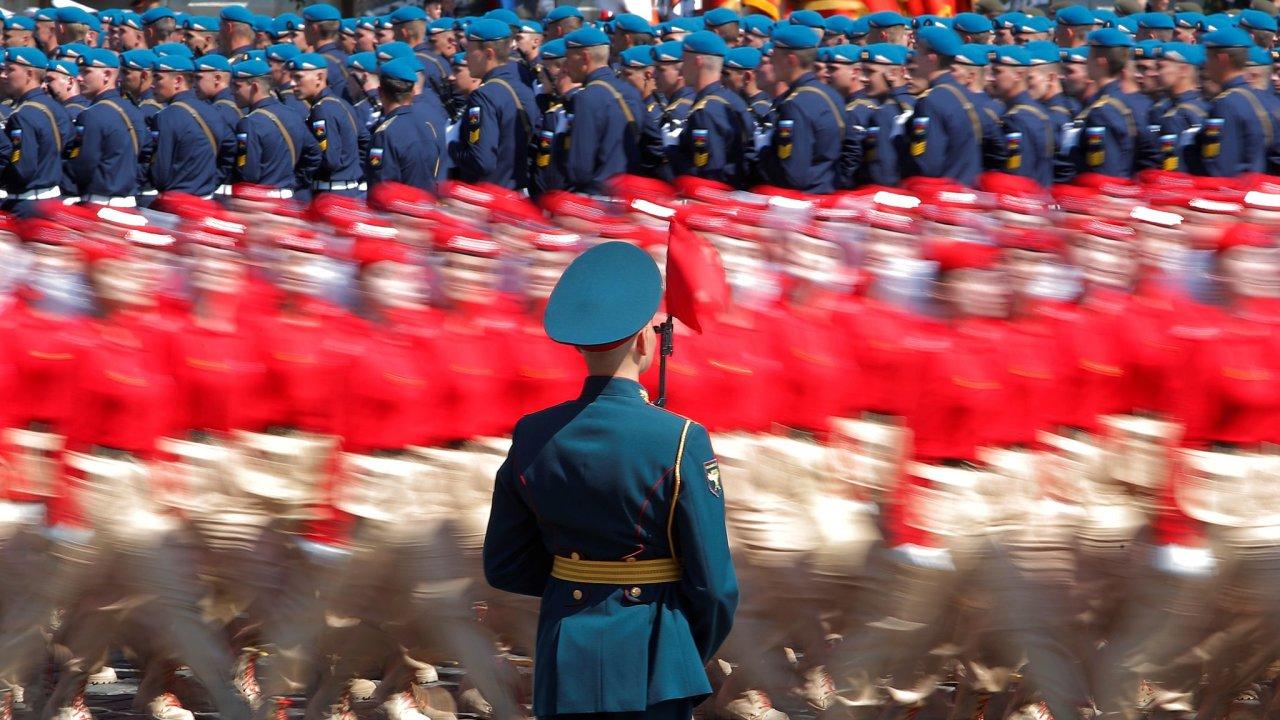 Vojenská přehlídka v Moskvě.