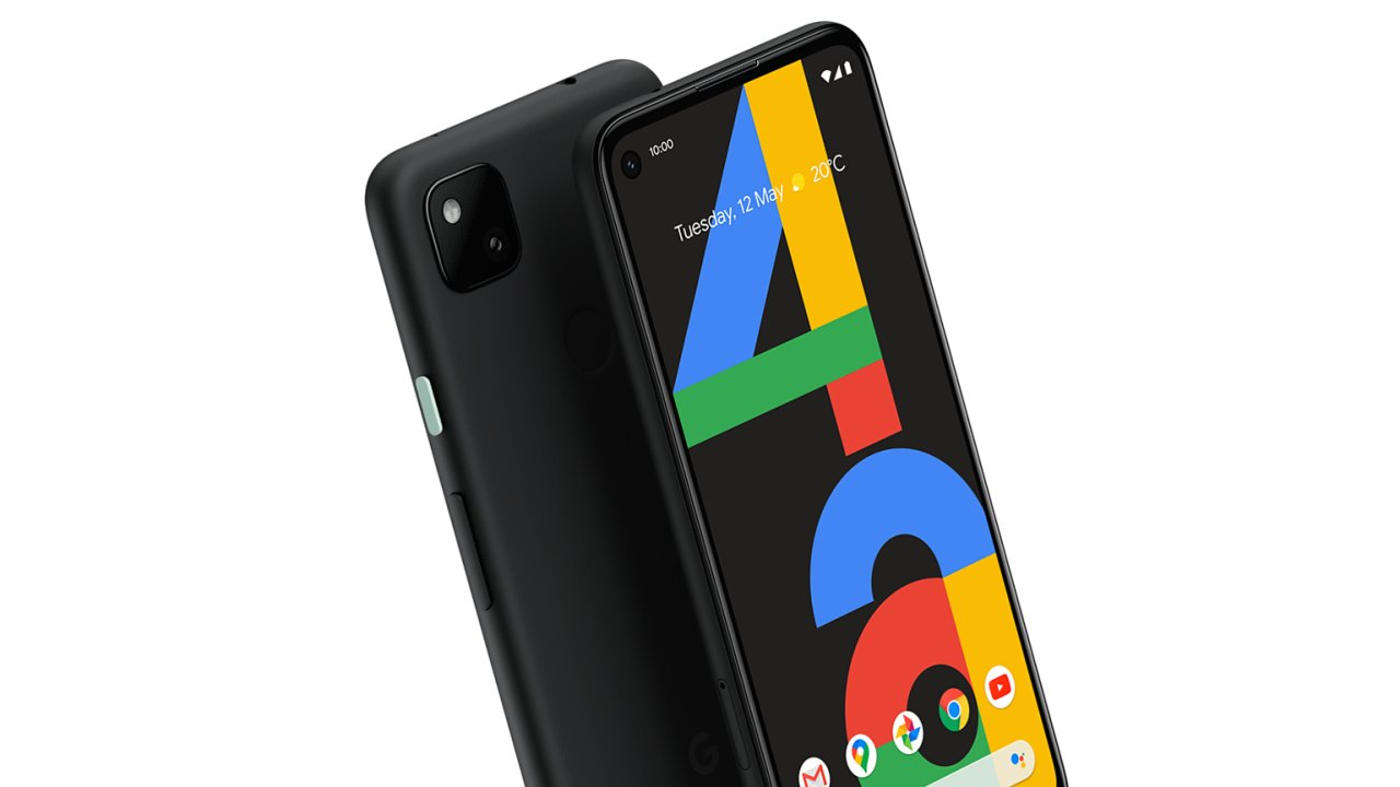 Pixel 4A bude dostupný jen v jedné barvě, prostě černé, s mátově zeleným vypínacím tlačítkem.