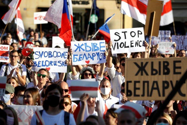 Protesty, bělorusko, Lukašenko