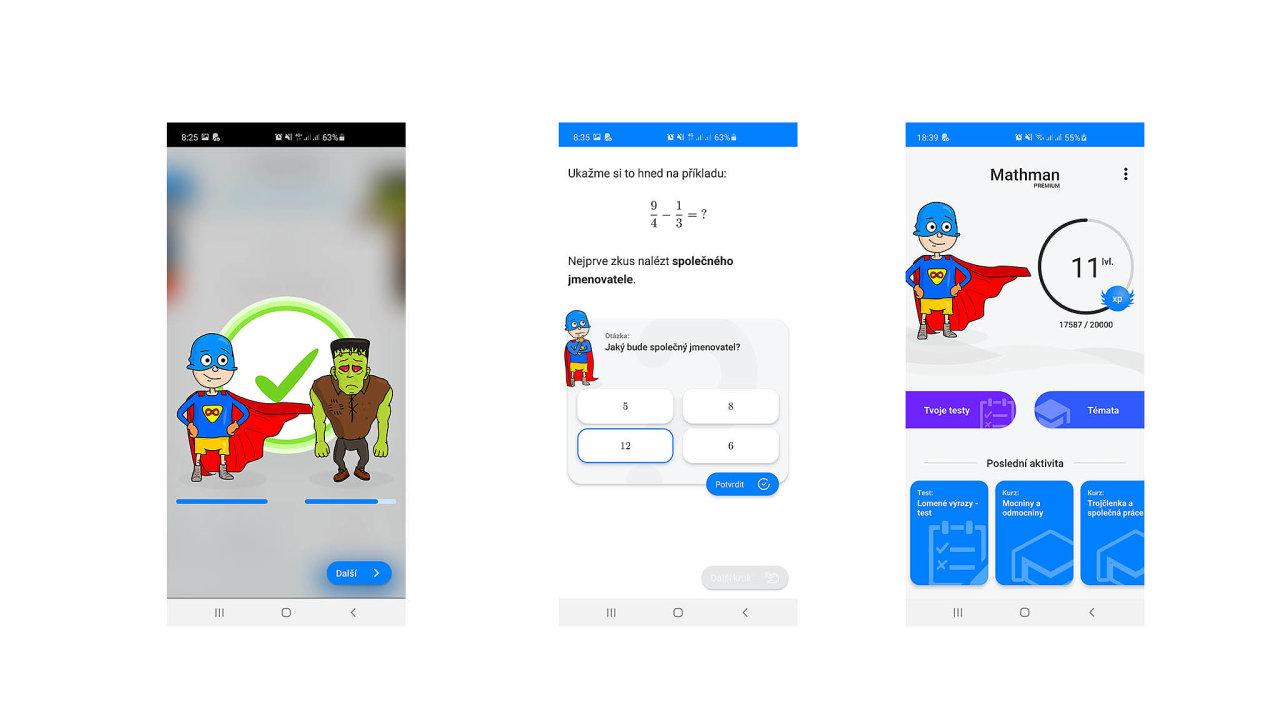 Mobilní aplikace Mathman sesnaží znalost zlomků arovnic žákům základních astředních škol předávat jednoduchou, přístupnou formou.