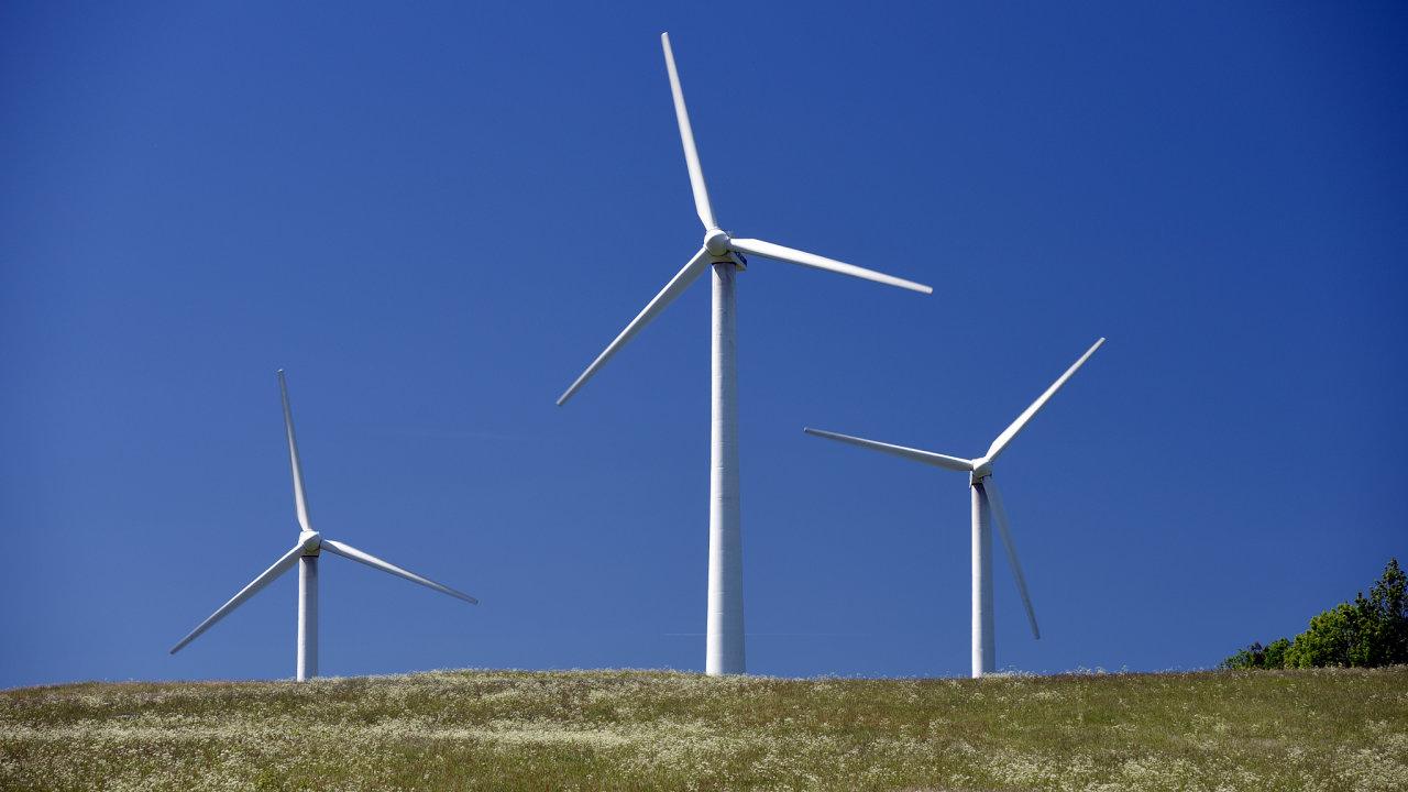 Větrná elektrárna v Ostružné na Jesenicku.