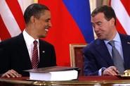 Obama, Medveděv, podpis smlouvy