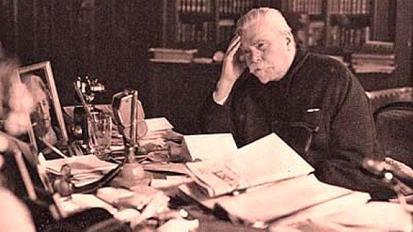 Předseda první československé vlády Karel Kramář