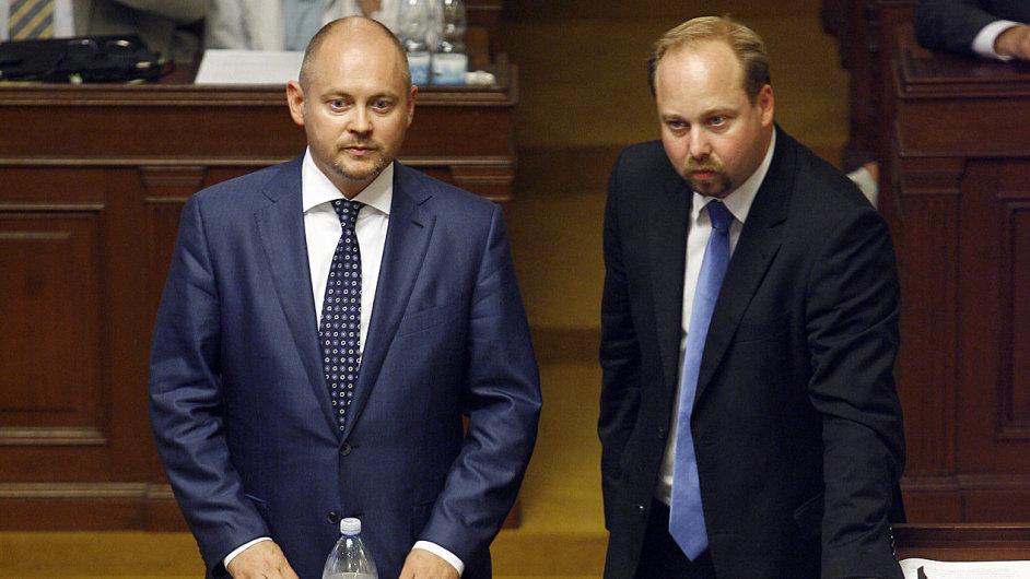 Michal Hašek a Jeroným Tejc ve sněmovně