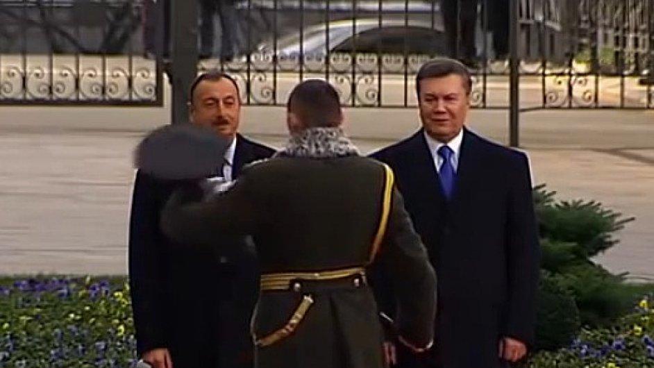 Čestné přivítání v Kyjevě