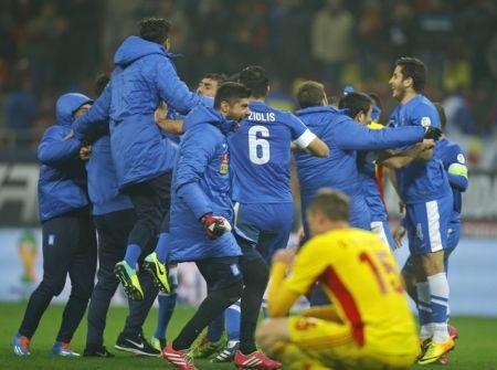 Radost fotbalistů Řecka z postupu na mistrovství světa