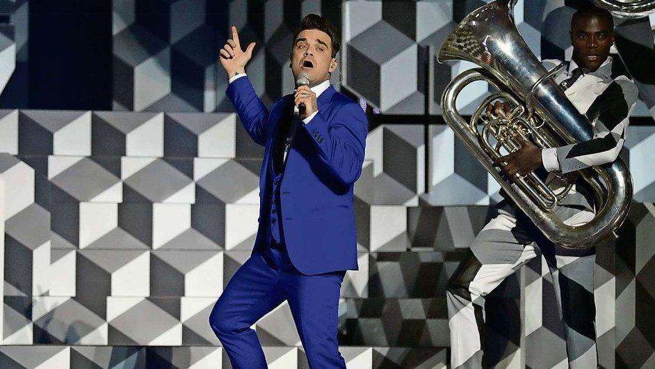 Robbie Williams letos v únoru oslavil čtyřicátiny,