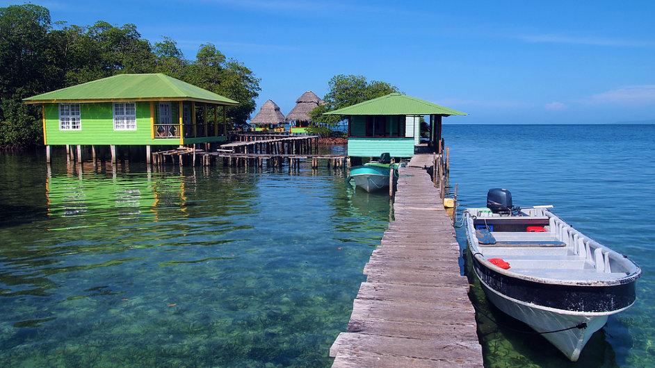 Panamské souostroví Bocas del Toro láká hlavně na klid a potápění