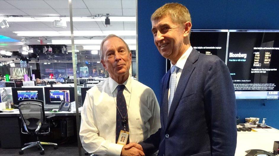 Andrej Babiš s Michaelem Bloombergem