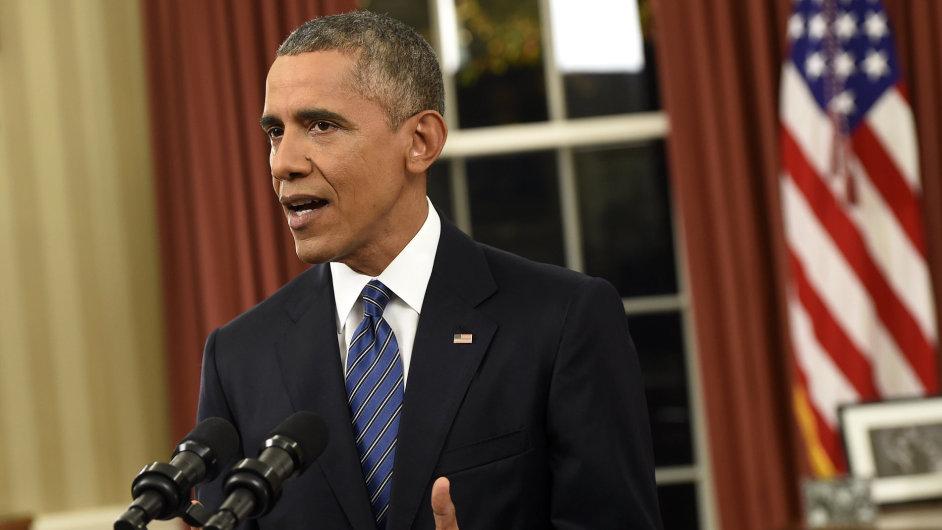 Barack Obama, proslov Oválná pracovna Bílého doma