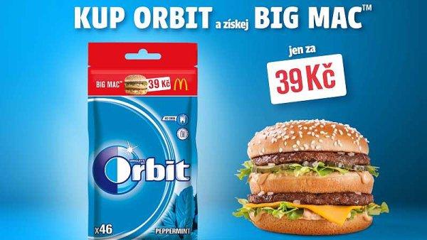 """Značka Orbit v rámci své dlouhodobé komunikace pod heslem """"Jezte, pijte, žvýkejte"""" zacílí opět na stravování mimo domov a navazuje spolupráci s McDonald's."""