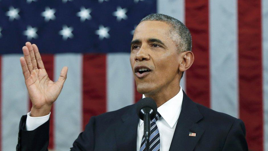 Barack Obama při svém tradičním poselství o stavu unie